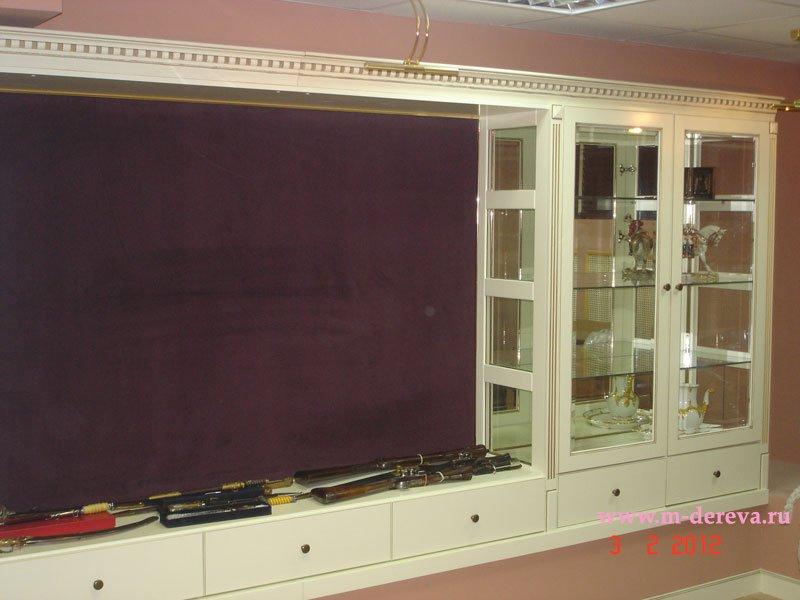 Шкаф витрина для гостиной фото
